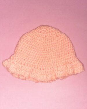 Hand Knitted Pink Cap