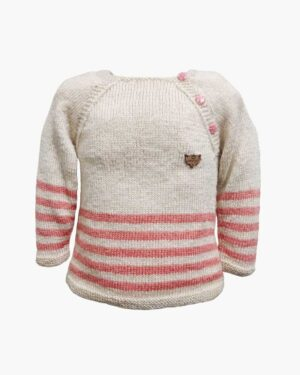 Beige-Orangered-Sweater