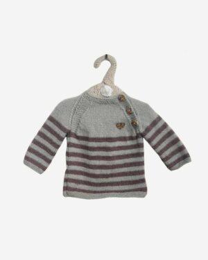 Cofee Gray Dual Color Full Sweater 3