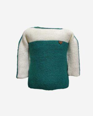 Cream Green Sweater Tistook