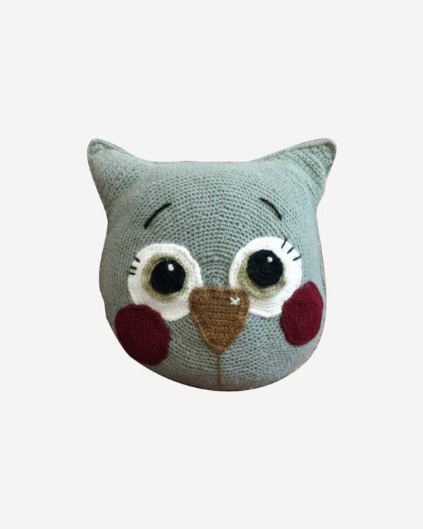 Woolen Grey Toy Cat