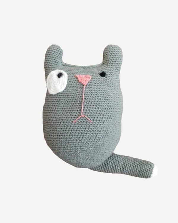 Woolen Grey Toy Long Cat1
