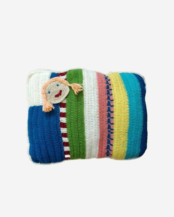 Woolen Pillow Baby Toy Multi Color