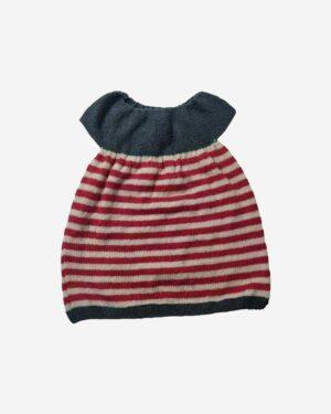 Baby Designer Half Frock Grey Red