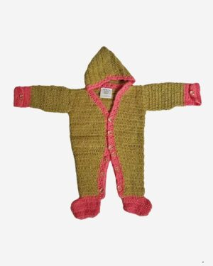 Goldenrod Brown Woolen Full Romper Baby