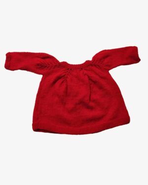 Cardigan Sweater Red Back