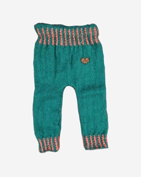 Green Orangered Woolen Pant