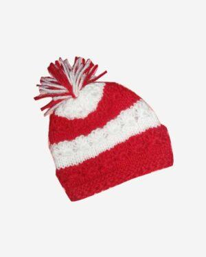 Hand Knitted Woolen Cap Red