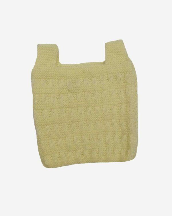 Cream Half Sweater Back