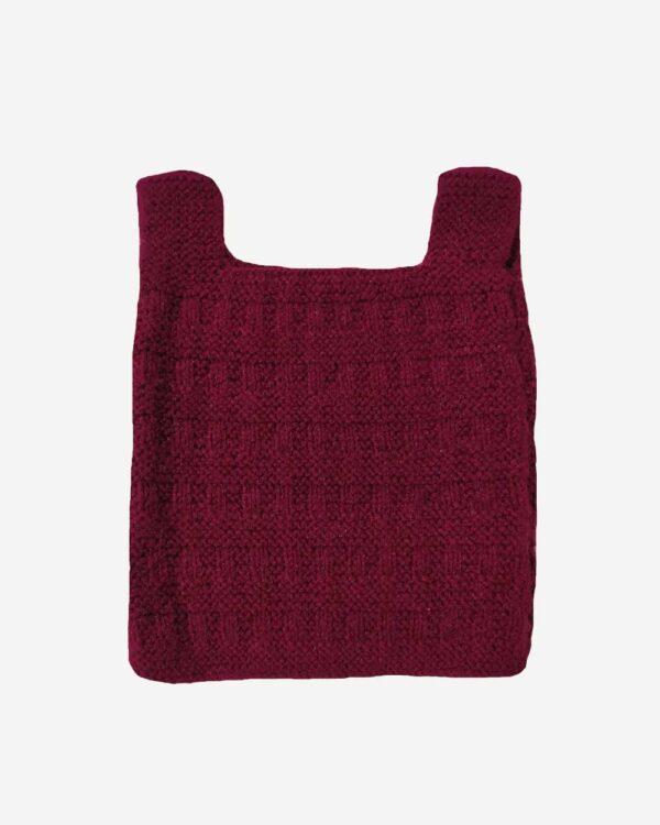 Maroon Half Sweater Back