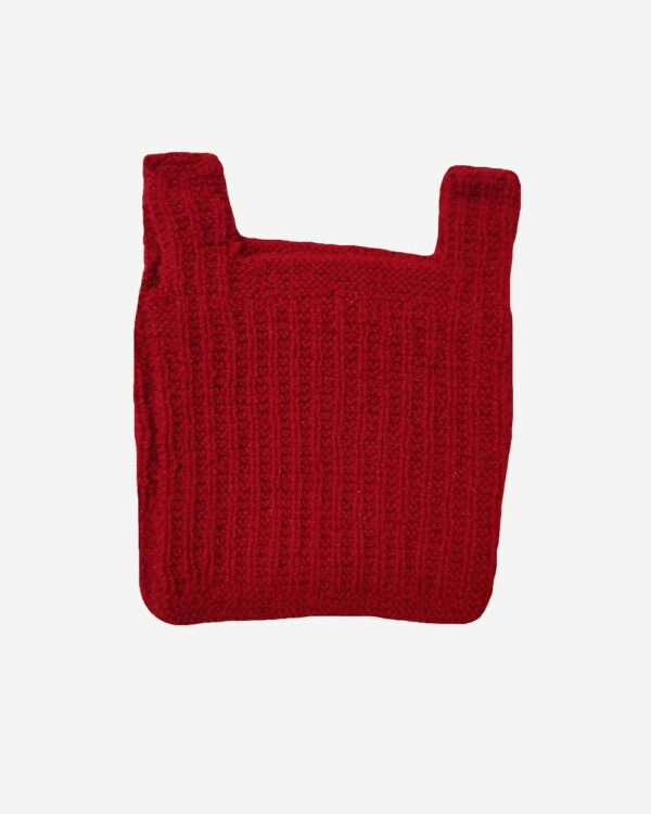 Red Half Sweater Back