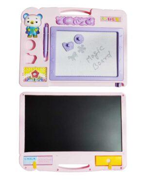 pink magic black board