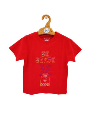 red tshirts embroidered